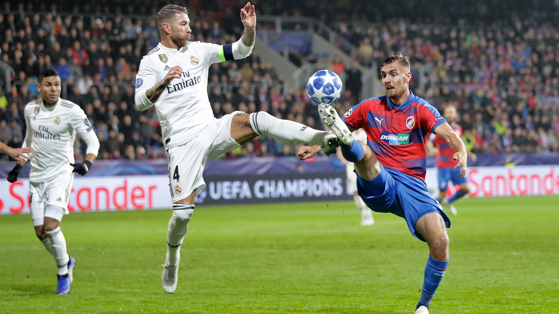 Real Madrid romped to a 5-0 victory against Viktoria Plzeň