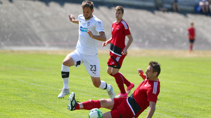 Viktorians won the second friendly match when they beat the champion of the Plzeň region