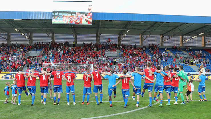 Krmenčík's goal secured the first home victory