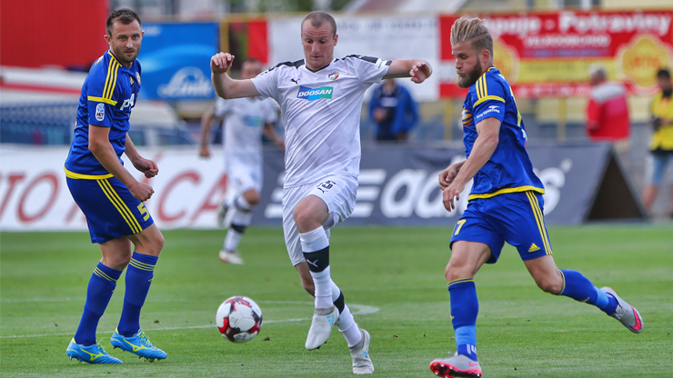 ​Viktoria scored a last minute goal and beat Jihlava