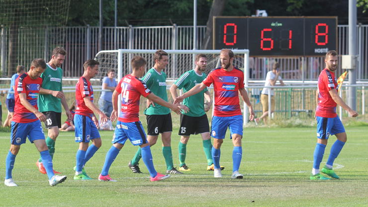 Viktoria won the first pre-season game against Rokycany 10-1, Řezníček scored 4 goals