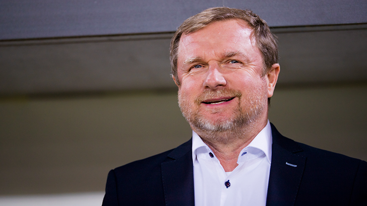Our 1st half turned out well, Pavel Vrba says after the match in Zlín
